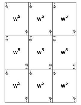 Algebra 2 Polynomials Go Fish Cards