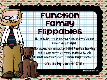 Algebra 2 & Pre-Calculus Function Family Flippables Interactive Notebook Unit