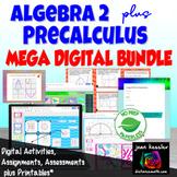 Algebra 2 PreCalculus Combination Mega Digital Bundle Google plus PRINTABLES