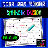 Synthetic Division Dots and Boxes Fun Game plus HW