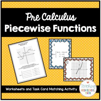 Algebra 2 PreCalculus Piecewise Functions