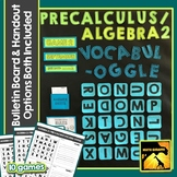 Algebra 2 / PreCalculus Vocabulary Game with Bulletin Boar