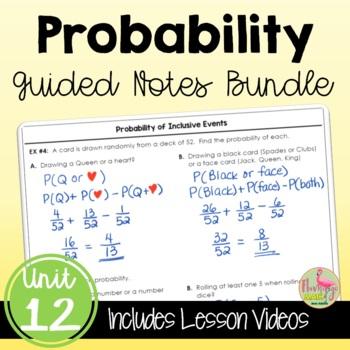 Algebra 2 Probability Guided Notes Bundle