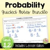 Probability Guided Notes (Algebra 2 - Unit 12)