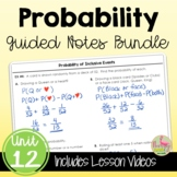 Probability Guided Notes (Algebra 2 - Unit 12)