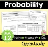 Probability Unit Essentials (Algebra 2 - Unit 12)