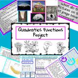 Algebra 2 Quadratics Equations Project for Distance Learning