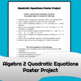 Algebra 2 Quadratics Poster Project Printable Google Docs