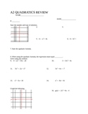 Algebra 2 Quadratics Review, SLewis