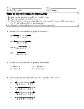 Algebra 2 Quadratics (including Completing the Square, Quadratic Formula)