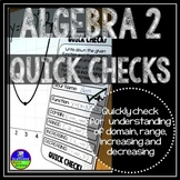 Algebra 2 Quick Checks