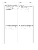 Algebra 2 Quiz - Geometric Sequences & Series BUNDLE
