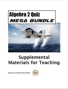 Algebra 2 Quiz MEGA BUNDLE