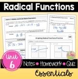Radical Functions Essentials (Algebra 2 - Unit 6)