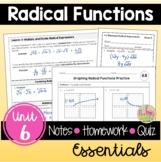 Radical Functions Essentials (Algebra 2 - Unit 6)