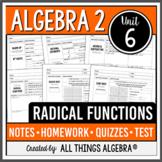 Radical Functions (Algebra 2 Curriculum - Unit 6)