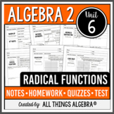 Radical Functions (Algebra 2 Curriculum - Unit 6) DISTANCE LEARNING