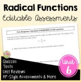 Radical Functions Assessments (Algebra 2 - Unit 6)