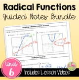 Radical Functions Guided Notes (Algebra 2 - Unit 6)