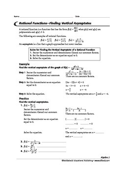 Algebra 2: Rational Expressions, Rational Functions, and Function Operations
