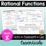 Rational Functions Essentials (Algebra 2 - Unit 8)