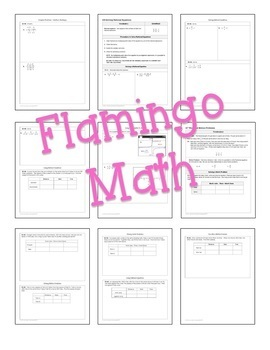 Algebra 2 Rational Functions Guided Notes Bundle
