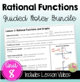 Rational Functions Guided Notes (Algebra 2 - Unit 8)