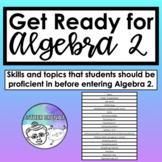 Algebra 2 - Readiness Prep / Summer Packet for Students Go