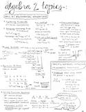 Algebra 2 Regents Review Study Guide