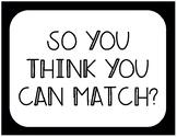 Algebra 2 Review Game- Matching