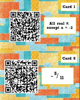 Algebra 2 Review - QR Code Scavenger Hunt
