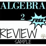 Algebra 2 Review Sample