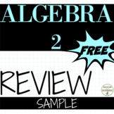 Algebra 2 End of Year Review Sample