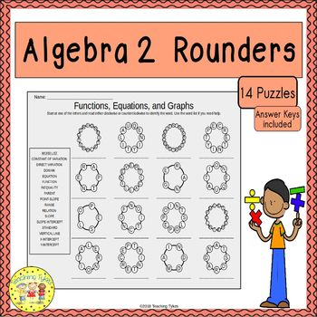 Algebra 2 Rounders Puzzles By Teaching Tykes Teachers Pay Teachers