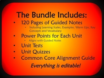 Algebra 2 Semester 1 Unit Plans (Bundled)