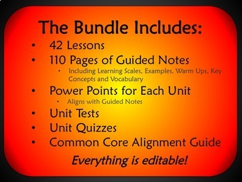 Algebra 2 Semester 2 Unit Plans (Bundled)
