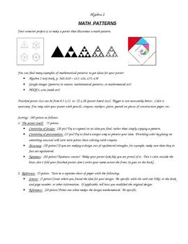 Algebra 2 Semester Project
