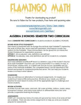 Algebra 2: Semester Two Curriculum