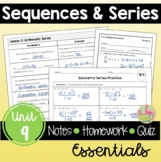 Sequences and Series Essentials (Algebra 2 - Unit 9)
