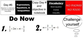 LONG HAUL: Algebra 2 Solving Inequalities Smartboard #3