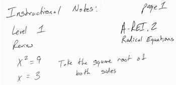 Algebra 2 - Solving Radical Equations Project - a-rei.2