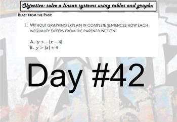 LONG HAUL: Algebra 2 Solving Systems Smartboard #22