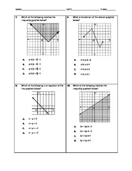 Algebra 2 EOC Spiral Quiz 05