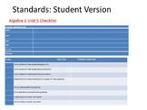 Algebra 2 Standards Based Unit Checklists For Accountability