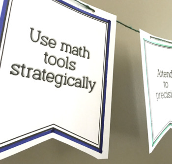 ALGEBRA 2 STANDARDS PENNANTS bulletin boards and decor