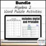 Algebra 2 Word Puzzle Printable & Digital Activity Mega Bundle