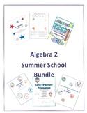 Back to School Math Calculus Algebra 2  Review Activity Bundle