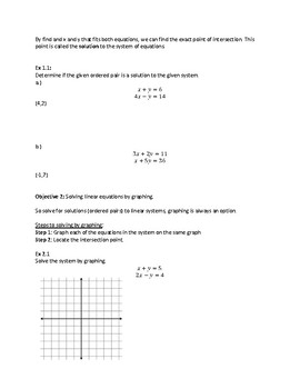 Algebra 2: Systems and Matrices Notes