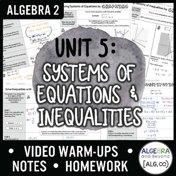 Algebra 2: Systems of Equations and Inequalities Unit