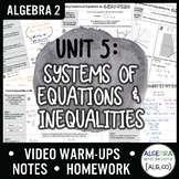 Systems of Equations and Inequalities Unit Bundle (Algebra